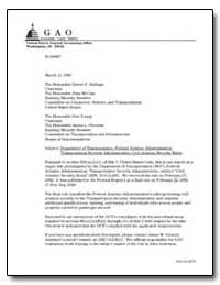 Department of Transportation, Federal Av... by Wannisky, Kathleen E.