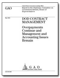 Dod Contract Management Overpayments Con... by General Accounting Office