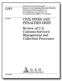 Civil Fines and Penalties Debt Review of... by General Accounting Office