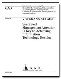 Veterans Affairs Sustained Management At... by Mcclure, David L.
