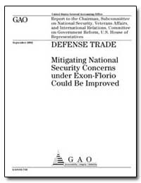 Defense Trade Mitigating National Securi... by General Accounting Office