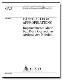 Canceled Dod Appropriations Improvements... by General Accounting Office