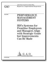 Performance Management Systems Irss Syst... by General Accounting Office