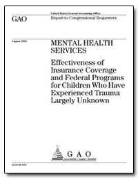 Mental Health Services Effectiveness of ... by General Accounting Office