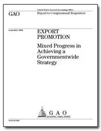Export Promotion Mixed Progress in Achie... by General Accounting Office