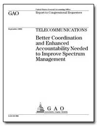 Telecommunications Better Coordination a... by General Accounting Office