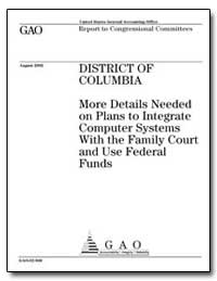 District of Columbia More Details Needed... by General Accounting Office