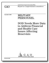 Military Personnel Dod Needs More Data t... by General Accounting Office