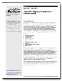Budget Issues Alternative Approaches to ... by General Accounting Office