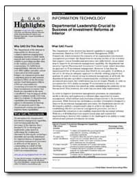 Departmental Leadership Crucial to Succe... by General Accounting Office