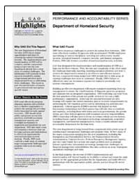Department of Homeland Security : Perfor... by General Accounting Office