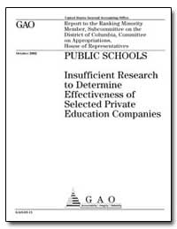 Public Schools Insufficient Research to ... by General Accounting Office