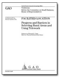 Facilities Location Progress and Barrier... by Ungar, Bernard L.