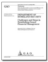Department of Homeland Security Challeng... by Williams, Mccoy