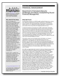 Department of Homeland Security : Challe... by General Accounting Office