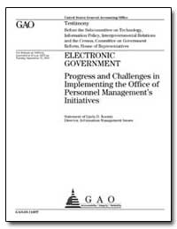 Electronic Government Progress and Chall... by Koontz, Linda D.