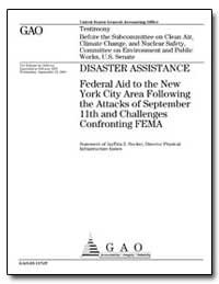 Disaster Assistance Federal Aid to the N... by Hecker, Jayetta Z.