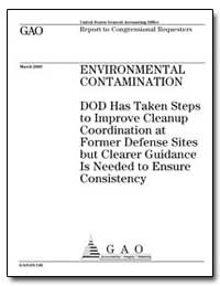 Environmental Contamination Dod Has Take... by General Accounting Office