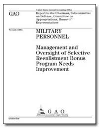 Military Personnel Management and Oversi... by General Accounting Office