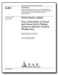 Purchase Cards Navy Vulnerable to Fraud ... by Kutz, Gregory D.