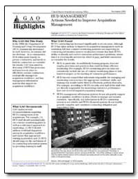 Hud Management Actions Needed to Improve... by General Accounting Office