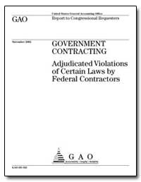 Government Contracting Adjudicated Viola... by General Accounting Office