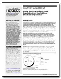 Postal Services National Office Supply C... by General Accounting Office