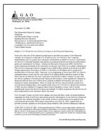 U.S. Postal Service Actions to Improve I... by Ungar, Bernard L.
