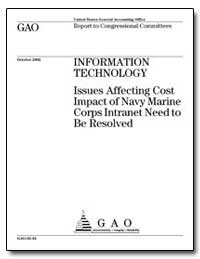 Information Technology Issues Affecting ... by General Accounting Office