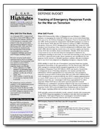 Tracking of Emergency Response Funds for... by General Accounting Office