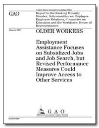 Employment Assistance Focuses on Subsidi... by General Accounting Office