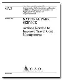 National Park Service Actions Needed to ... by General Accounting Office
