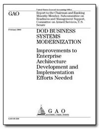Dod Business Systems Modernization Impro... by General Accounting Office