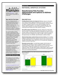 Reauthorizing Faa Provides Opportunities... by General Accounting Office