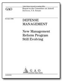 New Management Reform Program Still Evol... by General Accounting Office