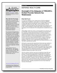 Defense Health Care Oversight of the Ade... by General Accounting Office