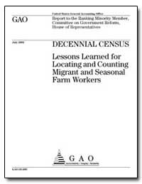 Decennial Census Lessons Learned for Loc... by General Accounting Office