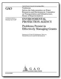 Environmental Protection Agency Problems... by Stephenson, John B.
