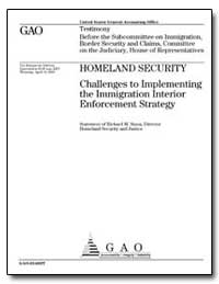 Homeland Security Challenges to Implemen... by Stana, Richard M.