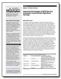 Best Practices Improved Knowledge of Dod... by General Accounting Office