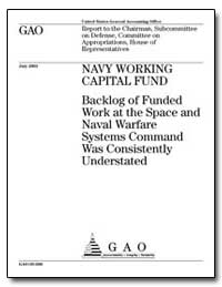 Navy Working Capital Fund Backlog of Fun... by General Accounting Office