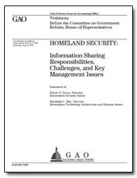 Homeland Security : Information Sharing ... by Dacey, Robert F.