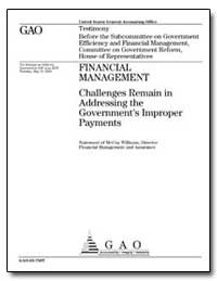 Financial Management Challenges Remain i... by Williams, Mccoy