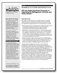 Business Systems Modernization Irs Has M... by General Accounting Office