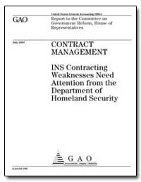 Report to the Committee on Government Re... by General Accounting Office