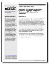 Head Start Key Among Array of Early Chil... by General Accounting Office