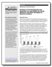 Special Education Numbers of Formal Disp... by General Accounting Office