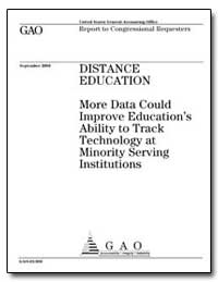 Distance Education More Data Could Impro... by General Accounting Office