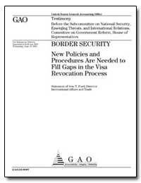 Border Security New Policies and Procedu... by Ford, Jess T.