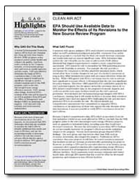 August 2003 Clean Air Act Epa Should Use... by General Accounting Office